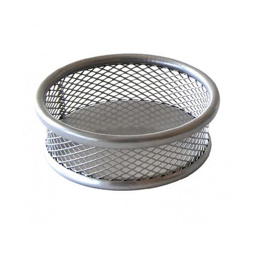 Čaša za spajalice metalna mrežasta