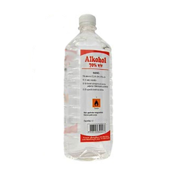 Alkohol 70% 1 litar