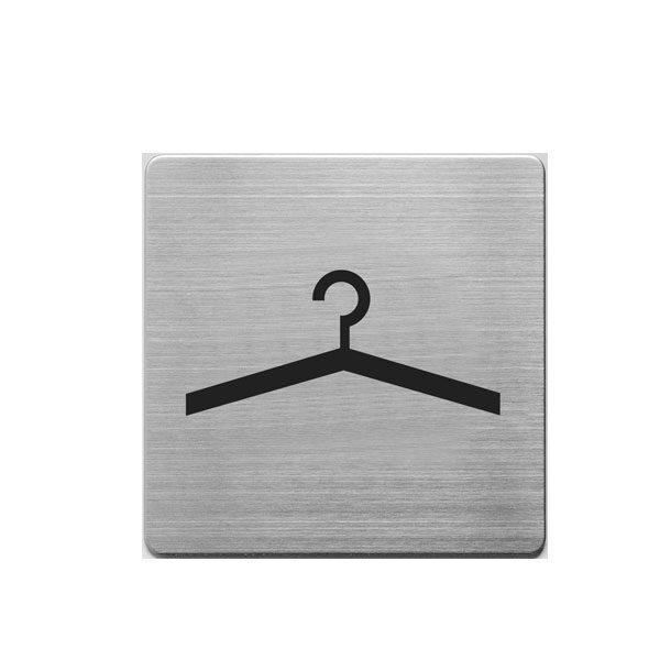 Aluminijumski piktogram Alco samolepljivi - garderoba