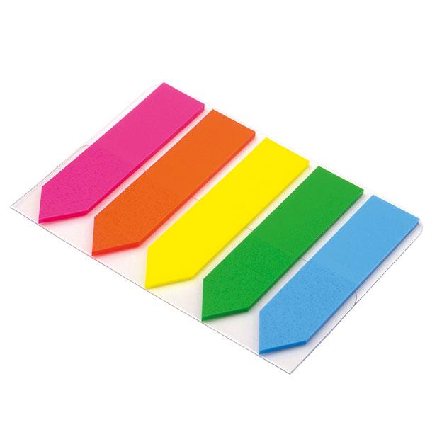 Obeleživač stranica PVC strelica 5 boja