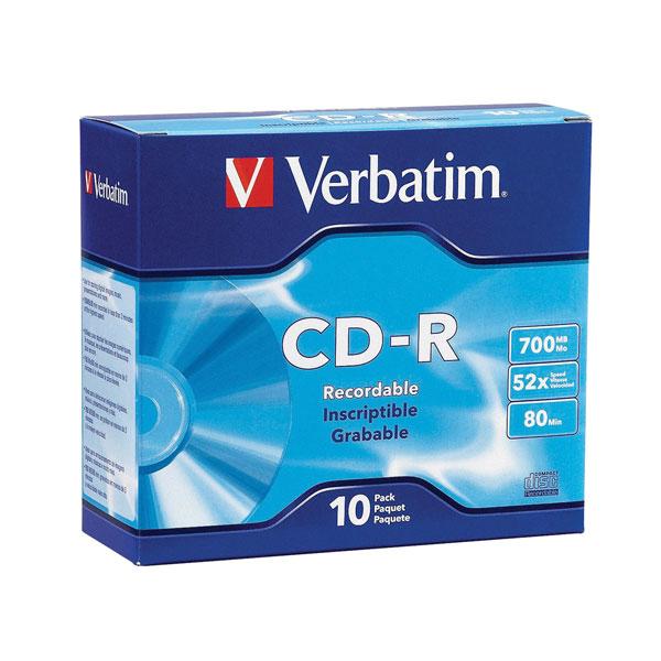 CD-R 700mb 52x 1/10 Verbatim
