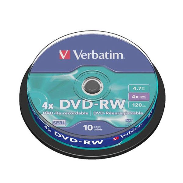 DVD-RW 4.7GB 1/10 Verbatim