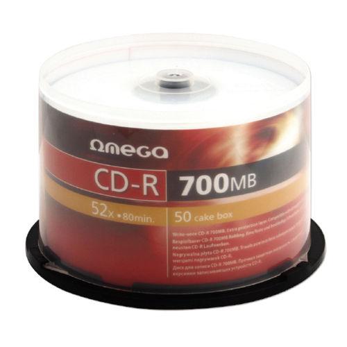 CD-R 700mb 52x 1/50 Omega