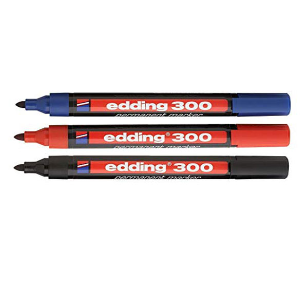 Marker permanent EDDING E-300 crveni obli vrh