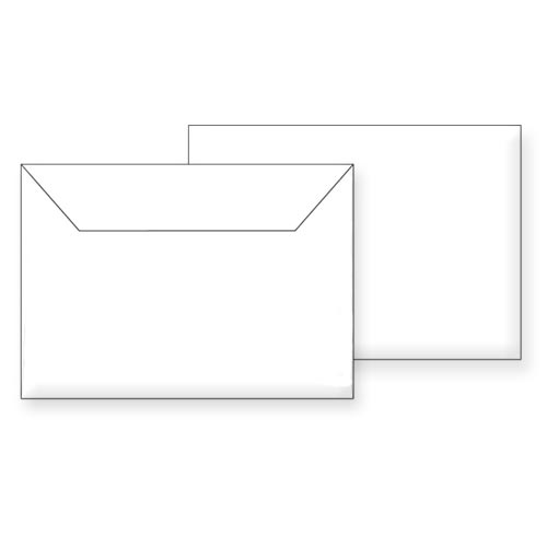 Koverte B6 bele samolepljive