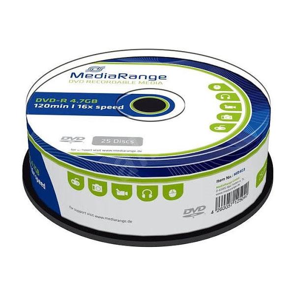 DVD-R 4.7GB 16X 1/25 Media Range