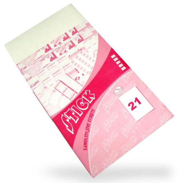Etiketa samolepljiva 41x25mm 1/105 etiketa