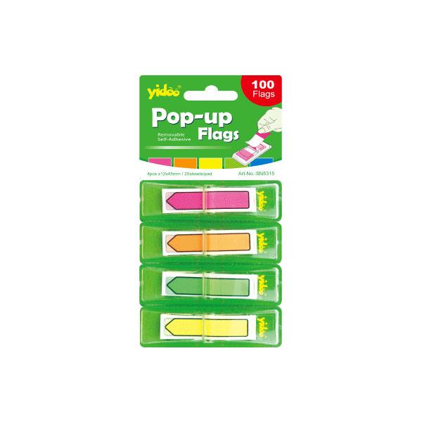 Obeleživač stranica PVC POP UP 12x45mm 4 boje