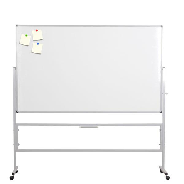 Tabla bela dvostrana obrtna 120x200cm na stalku sa točkićima NOKI