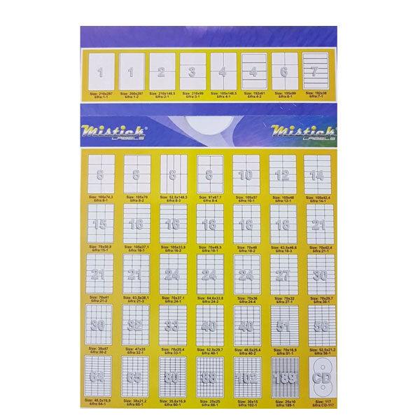 Nalepnice 52.5x148.5mm A4/100L - 800 nalepnica