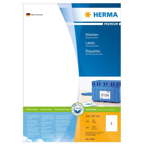 Nalepnice HERMA 210x297 A4/100