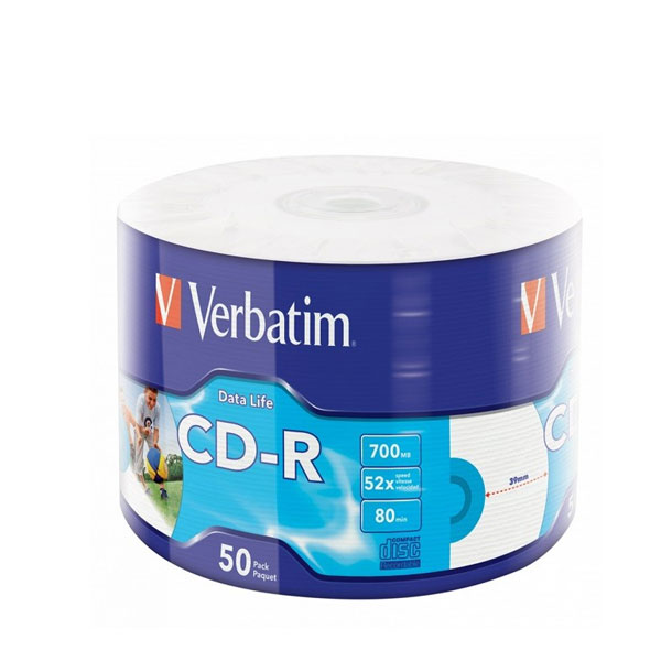 CD-R 700mb 52x 1/50 Verbatim
