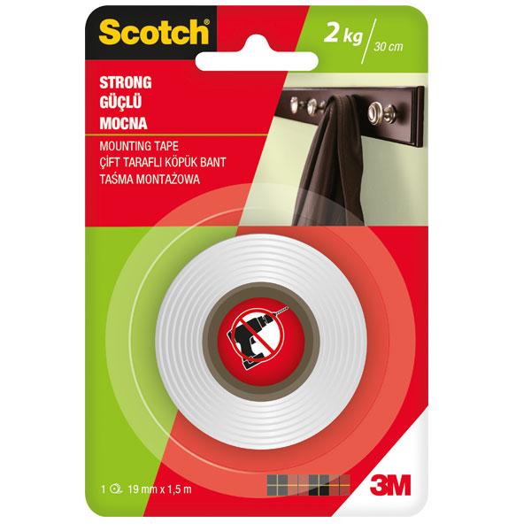 Obostrano lepljiva traka SCOTCH STRONG 19mmx1