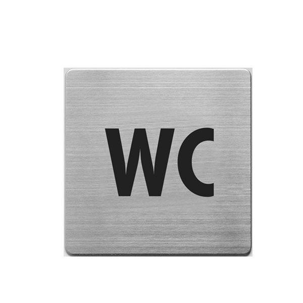 Aluminijumski piktogram Alco samolepljivi - WC