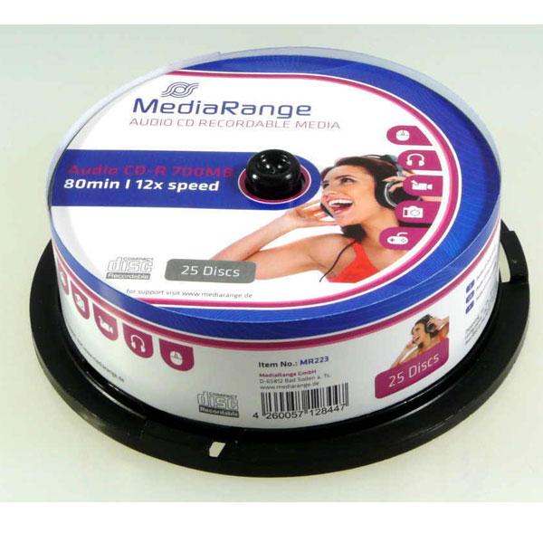 CD-R Audio 700mb 80min 1/25 Media Range