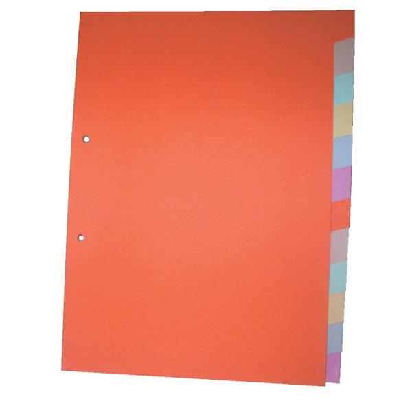 Pregradni karton u boji A4 180gr 1/12 O+CO