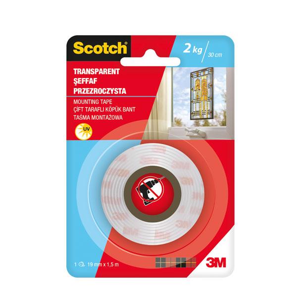 Obostrano lepljiva traka SCOTCH TRANSPARENT 19mm x 1