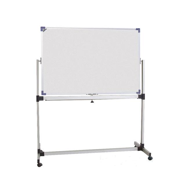 Tabla bela dvostrana obrtna 120x180cm na stalku sa točkićima VISION