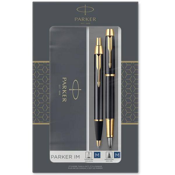 PARKER set IM Black GT hemijska olovka + naliv pero