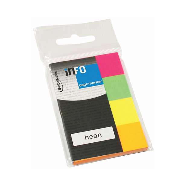 Page marker NEON 20x50mm 4x50L INFO NOTES