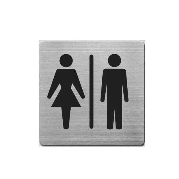 Aluminijumski piktogram Alco samolepljivi - toalet