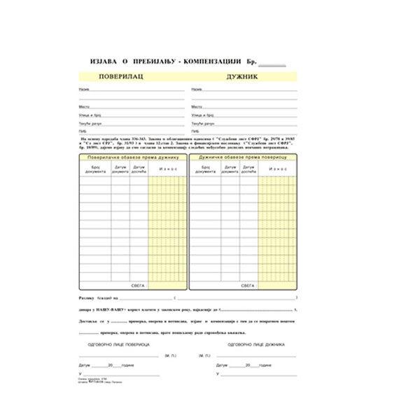Kompenzacija A4 NCR